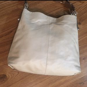 Coach Penelope Ivory Hobo Bag Python Trim Leather